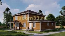 Дом из бруса 14х15 под ключ. Проект ДБ-29