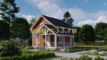 Дом из бруса 8.5х9 под ключ. Проект ДБ-30