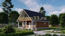 Дом из бруса 7.5х11 под ключ. Проект ДБ-4