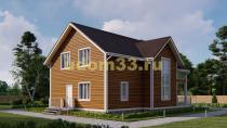 Дом из бруса 9.5х12.7 под ключ. Проект ДБ-5