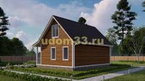 Дом из бруса 7х9 под ключ. Проект ДБ-8