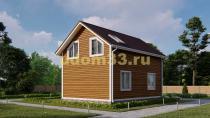 Дом из бруса 6х9.5 под ключ. Проект ДБ-9