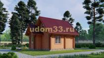 Дом из бревна 5х7.5 под ключ. Проект ДБР-26