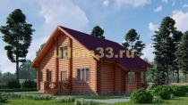 Дом из бревна 11.5х11.5 под ключ. Проект ДБР-29