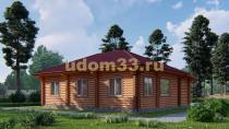 Дом из бревна 10.8х11.6 под ключ. Проект ДБР-5