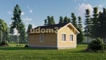 Одноэтажный каркасный домик 7х8. Проект ДК-101 «Надежда»