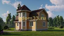 Каркасный дом 7.5х9. Проект ДК-104 «Серпухов»