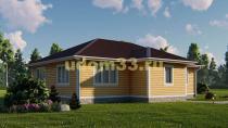 Одноэтажный каркасный дом 11х13. Проект ДК-105 «Кашира»