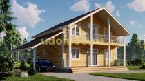 Двухэтажный каркасный дом. Проект ДК-106 «Дмитров»
