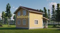 Двухэтажный каркасный дом 6х9. Проект ДК-107 «Калина»