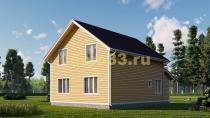 Каркасный дом 8х10.8 в два этажа. Проект ДК-11