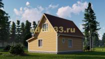 Каркасный дом 9х8.5 с верандой и террасой. Проект ДК-13