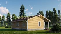 Одноэтажный каркасный дом 11х9. Проект ДК-17