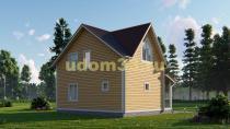 Красивый каркасный дом 7.5х8.5. Проект ДК-18