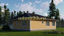 Одноэтажный каркасный дом 11.7х12. Проект ДК-2
