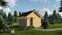 Недорогой каркасный домик 5х4. Проект ДК-24