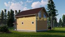 Каркасный дом 6х9.5 в два этажа для круглогодичного проживания. Проект ДК-25