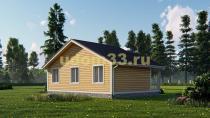 Одноэтажный каркасный дом 6.8х9. Проект ДК-36