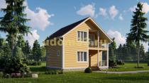 Двухэтажный каркасный дом 8х8. Проект ДК-37