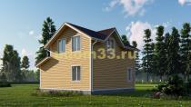 Каркасный дом 8х8 в два этажа. Проект ДК-39