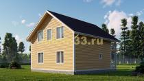 Просторный каркасный дом 8.5х10. Проект ДК-4