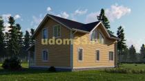 Двухэтажный каркасный дом 10 на 10. Проект ДК-41