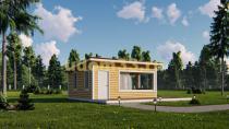 Каркасный дом 7 на 8 с террасой. Проект ДК-43