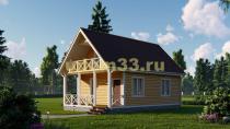 Каркасный дом 6х9.6 с балконом и верандой. Проект ДК-44