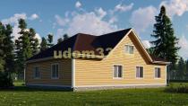 Просторный одноэтажный каркасный дом 13х15. Проект ДК-45