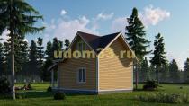 Каркасный дом 6х8.5 с мансардой. Проект ДК-49