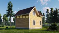 Двухэтажный каркасный дом 7х7. Проект ДК-50