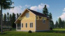 Каркасный дом 8х9 с мансардой. Проект ДК-52