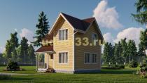 Недорогой двухэтажный каркасный дом 7х7. Проект ДК-55