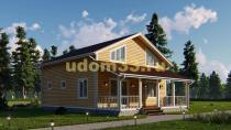 Просторный двухэтажный каркасный дом 9х11.8. Проект ДК-57
