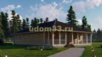 Просторный одноэтажный каркасный дом 12х17.5 с гаражом. Проект ДК-58