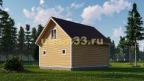 Каркасный дом 7х9. Проект ДК-60