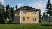 Двухэтажный каркасный дом 9х10.5. Проект ДК-68