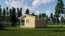 Небольшой современный каркасный дом 6х6. Проект ДК-74 «Эрудит»