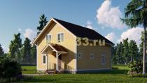 Двухэтажный каркасный дом 8х11.5. Проект ДК-77 «Сириус»