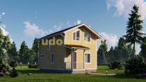 Двухэтажный каркасный дом 5.5х9.5. Проект ДК-78 «Очаг»