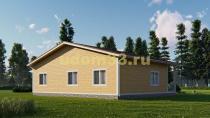 Одноэтажный каркасный дом на две семьи. Проект ДК-88 «Форвард»