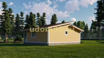 Современный недорогой каркасный дом. Проект ДК-90 «Утес»