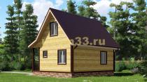Дачный дом 7х7 под ключ. Проект ДКД-2