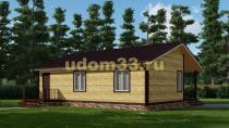 Дачный дом 9х11 под ключ. Проект ДКД-30
