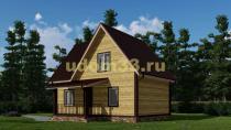 Красивый дачный дом с эркером. Проект ДКД-33