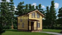 Двухэтажный дачный домик 5.5х9.5. Проект ДКД-37