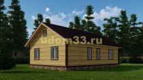 Просторный одноэтажный дачный домик 8х12. Проект ДКД-38