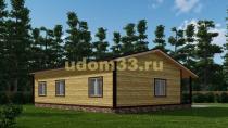 Одноэтажный дачный дом на две семьи. Проект ДКД-39