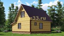 Дачный дом 9х8.5 под ключ. Проект ДКД-4