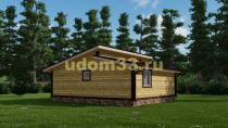 Недорогой дачный домик 7х8. Проект ДКД-40